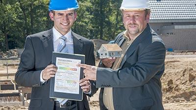 Baubegleitung durch Energieberater (Symbolbild)