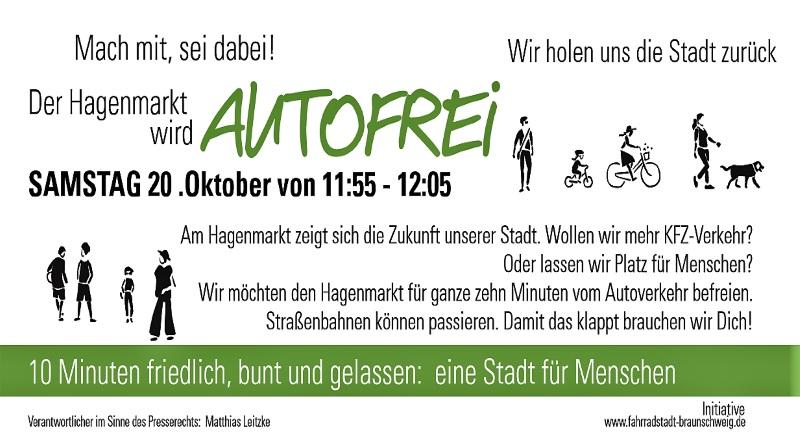 Aktion: Fahrradstadt Braunschweig – Es ist 5 vor 12!