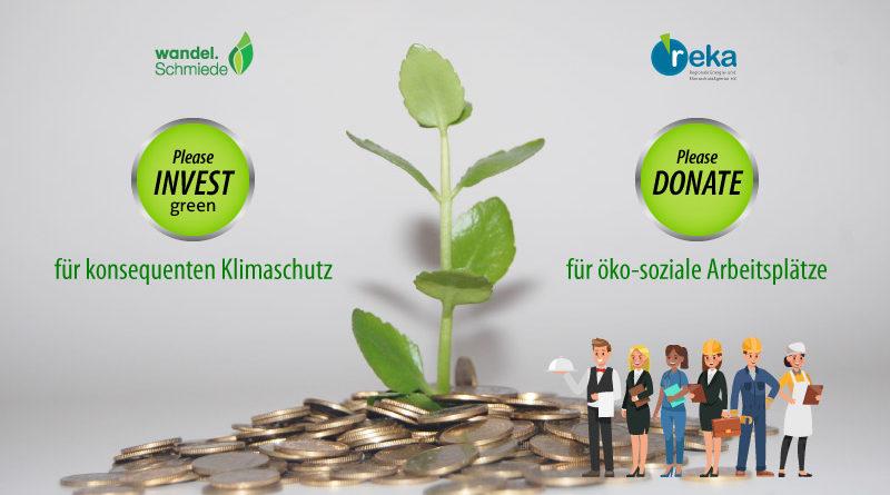 Deine Spende/greenINVEST für öko-soziale Arbeitsplätze