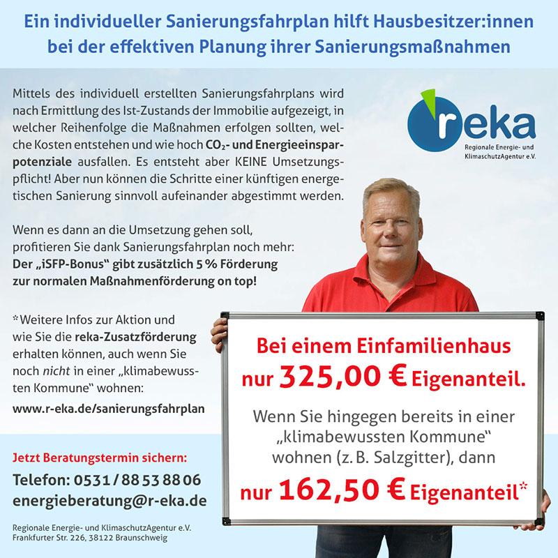 reka-Anzeige Sanierungsfahrplan klimabewusste Kommune