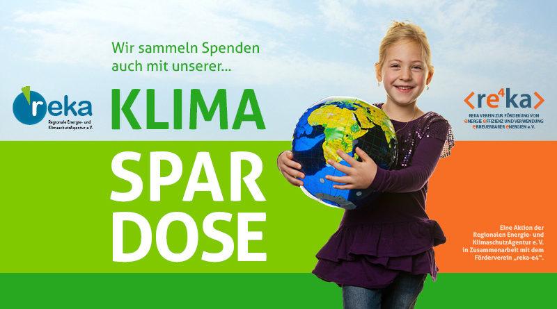 Wir sammeln Spenden auch mit unserer Klimaspardose!